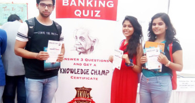 Knowledge Champ Banking Quiz held at Khalsa College, Delhi University