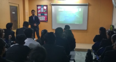Carpe Diem! TKWsIBF students 'seize the day' with alumnus Dilkush Jha of Hero Fincorp.